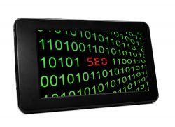 SEO Code on a Tablet