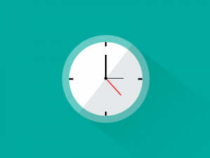 relogio-clock flat design