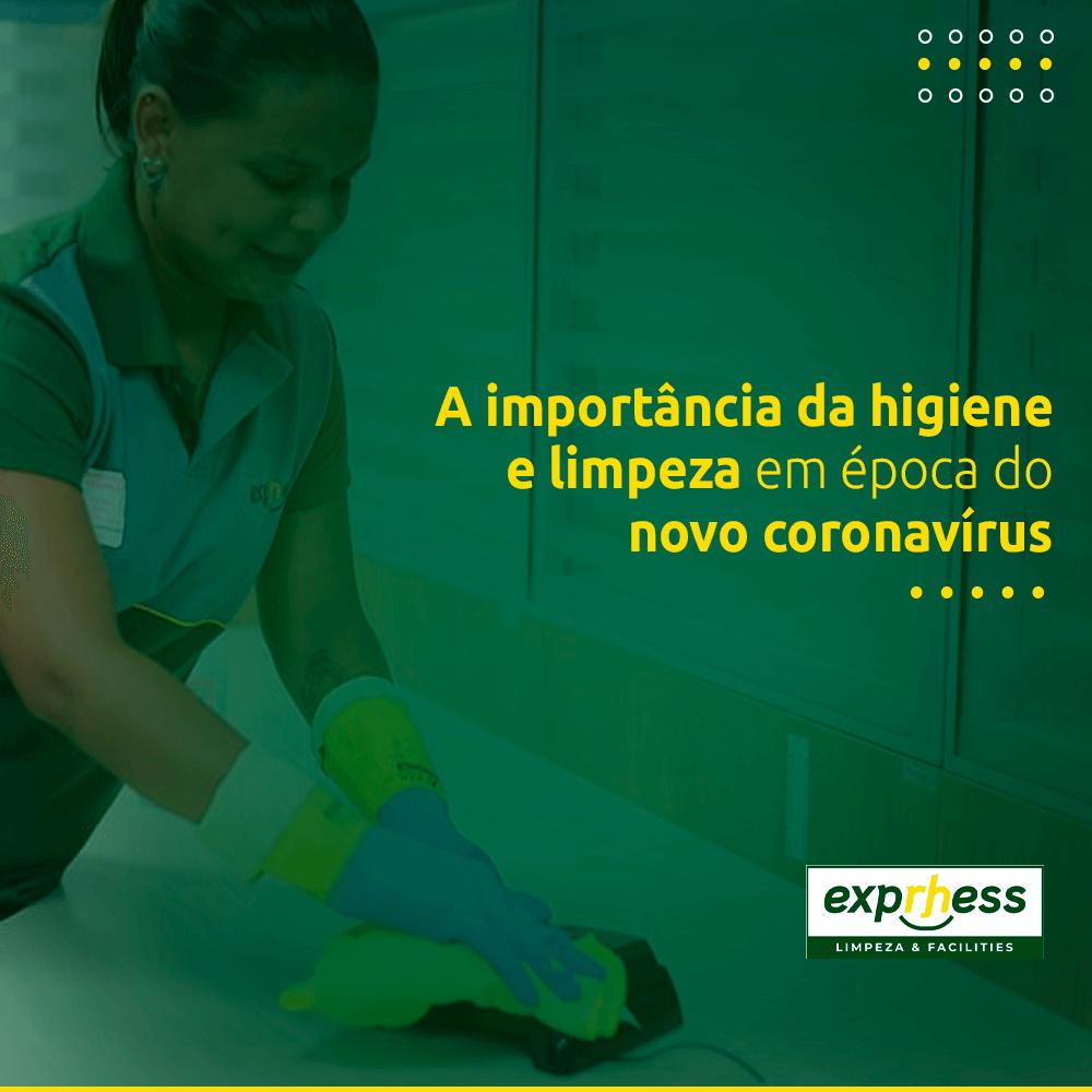 A importância da higiene e limpeza em época do novo coronavírus