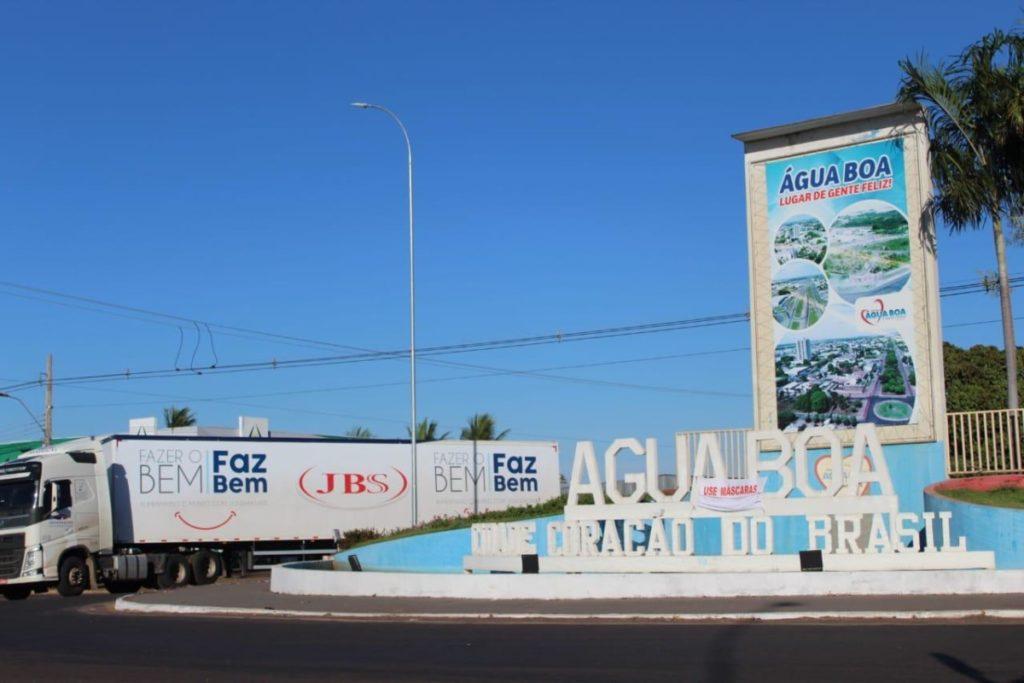 Água Boa (MT) recebe mais doações da JBS