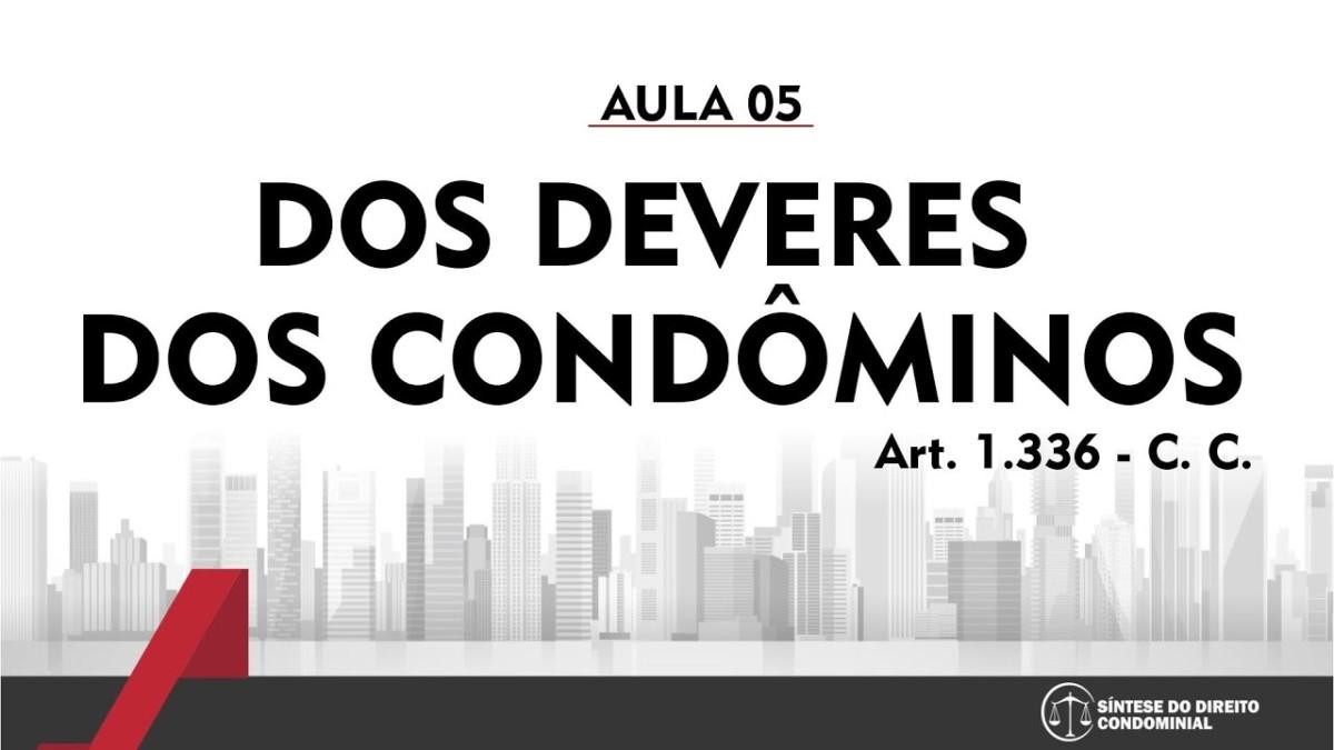 Síntese do Direito Condominial Aula - 05