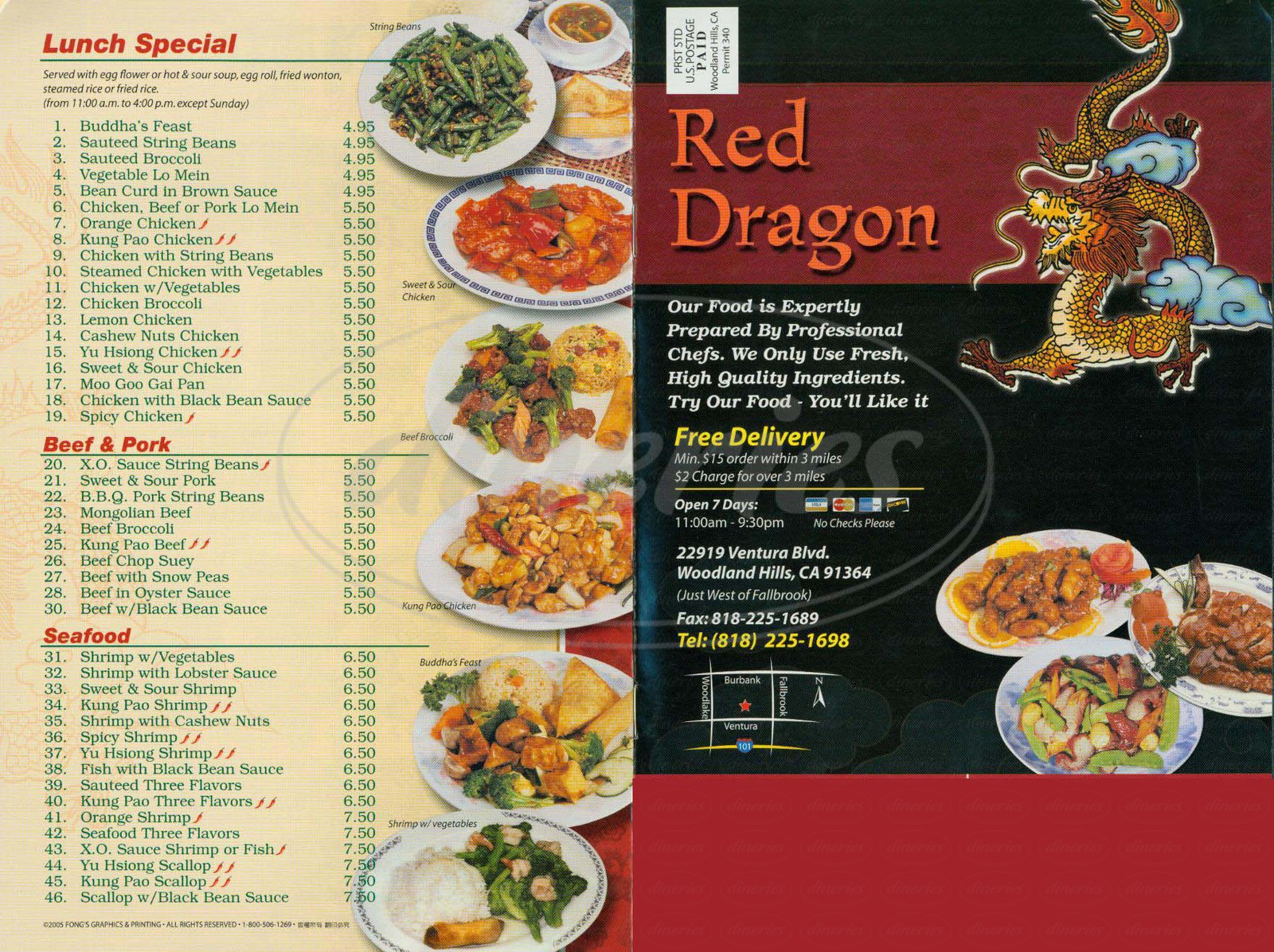 Dragon City Chinese Restaurant Menu