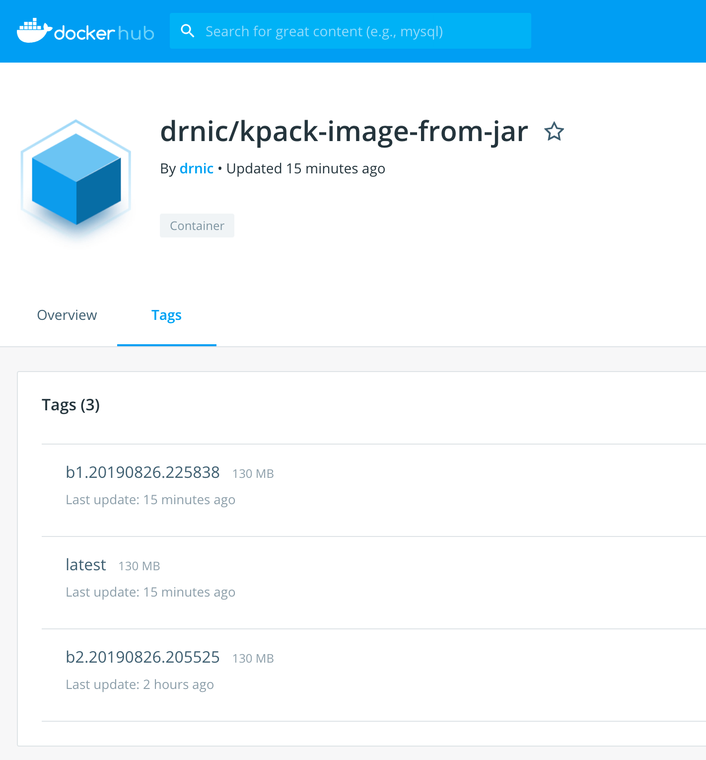 Investigating kpack - continuously updating Docker images