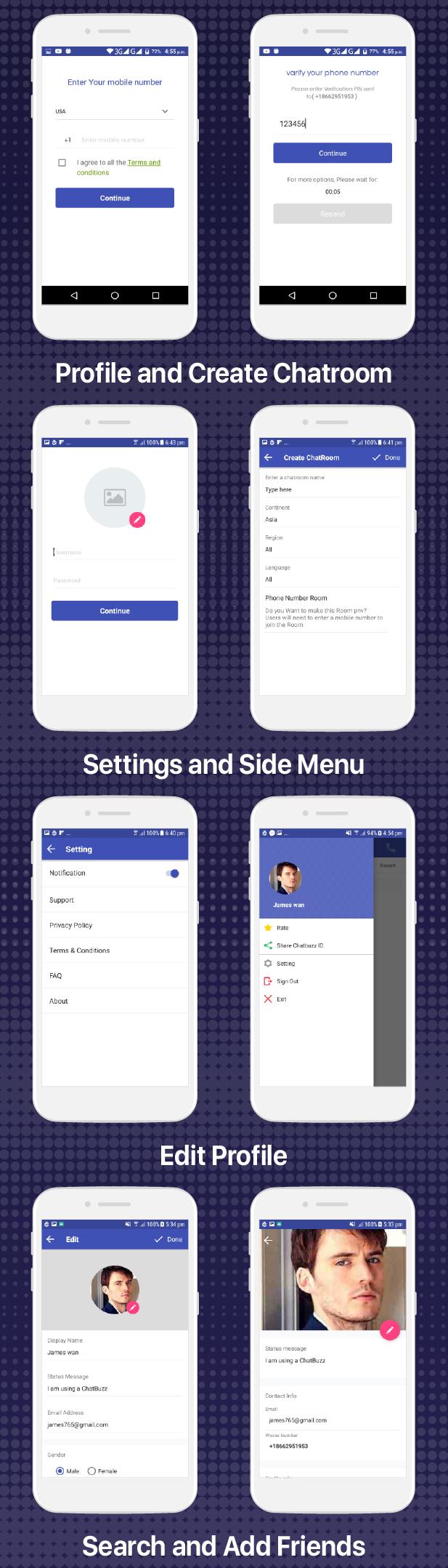 Chatbuzz - Nimbuzz Clone Social Messenger app - 8