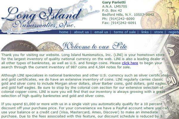 Long Island Numismatics, Inc