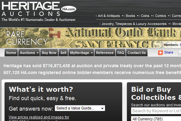 Heritage World Coin Auctions