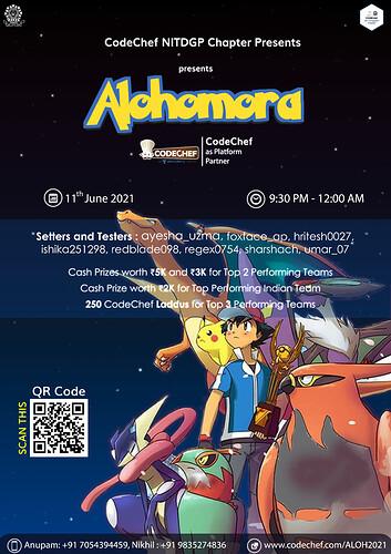 Alohomora(Codechef)