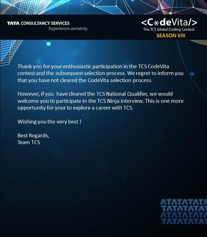 Codevita Interview results - help - CodeChef Discuss