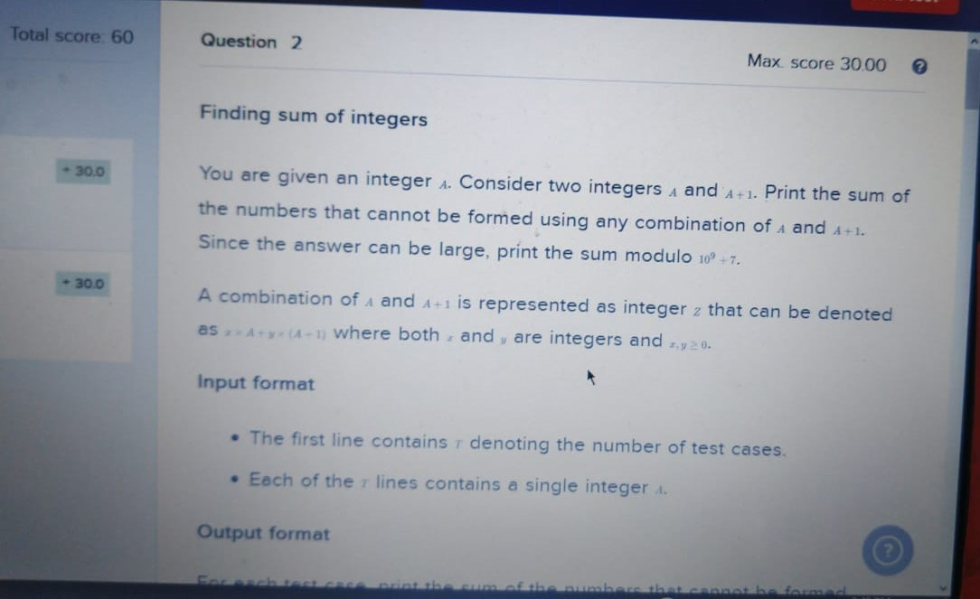 finding sum of intergers 02