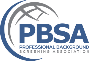 PBSA-Professional Background Association logo—CastleBranch is accredited.
