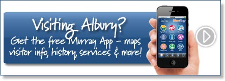 Visiting Albury? Get the free Murray River App