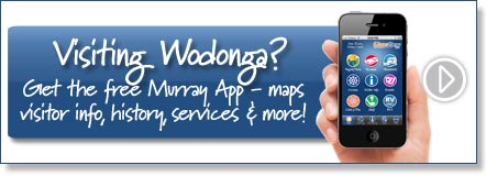 Visiting Wodonga? Get the free Murray River App