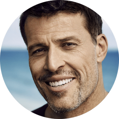 Tony robbins, life advice coach, professional shot