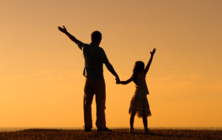 parent and child sharing positivity