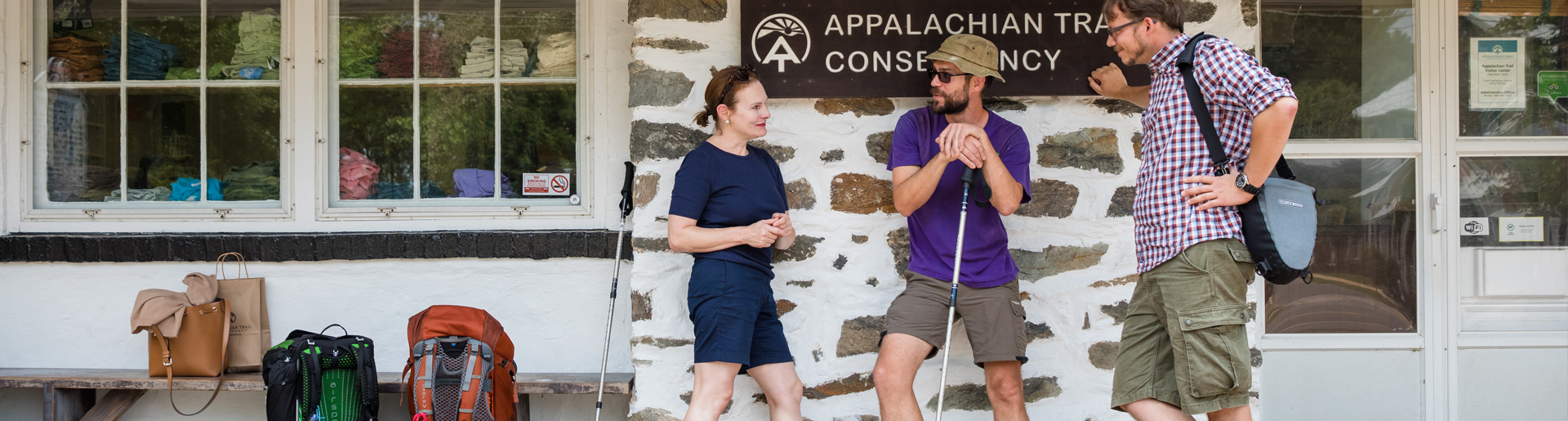 hikers at Appalachian Trail Conservancy harpers ferry West Virginia
