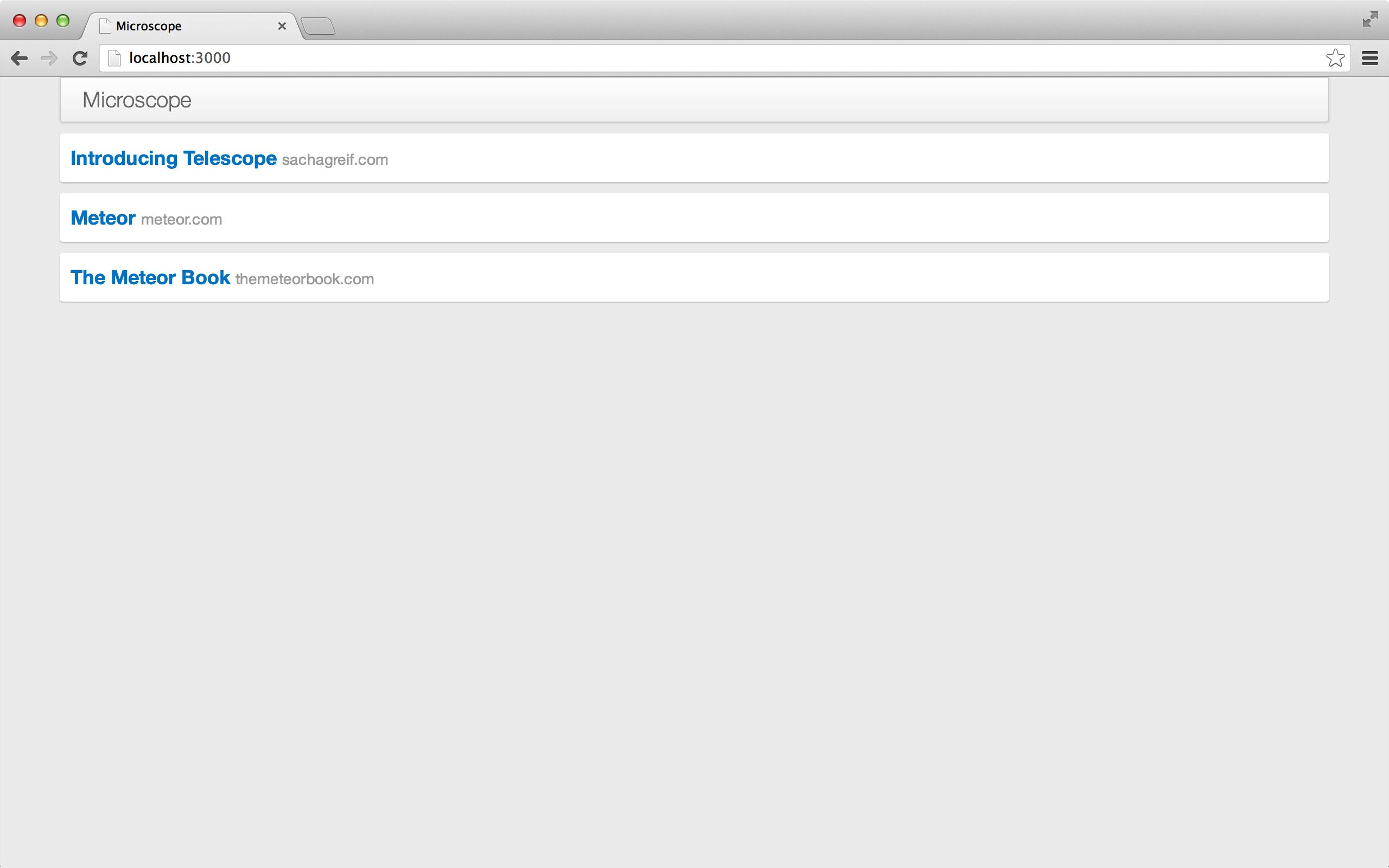显示每个链接的域名。