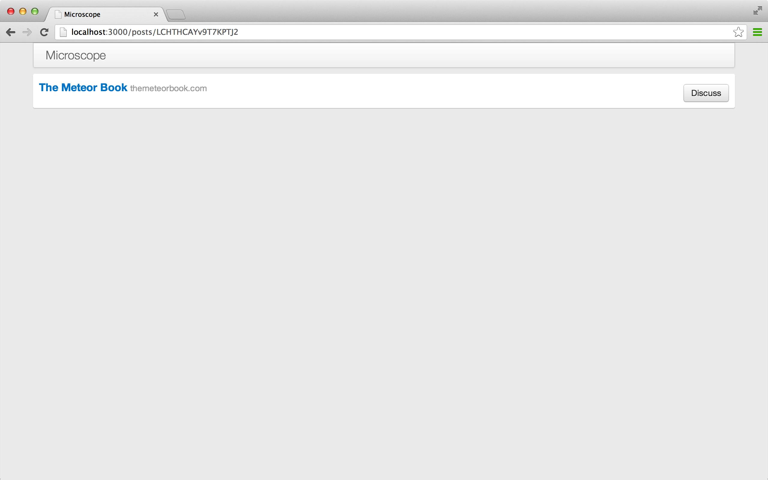 一个单独的帖子页面。