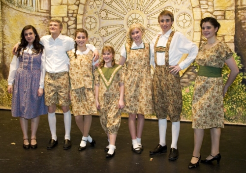 Maria and the Von Trapp Children Curtain