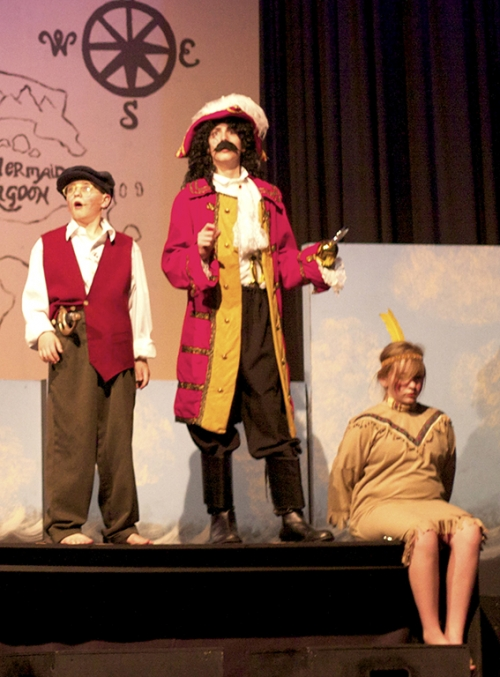 Smee, Hook and Tiger Lily