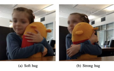 Study of Children's Hugging for Interactive Robot Design