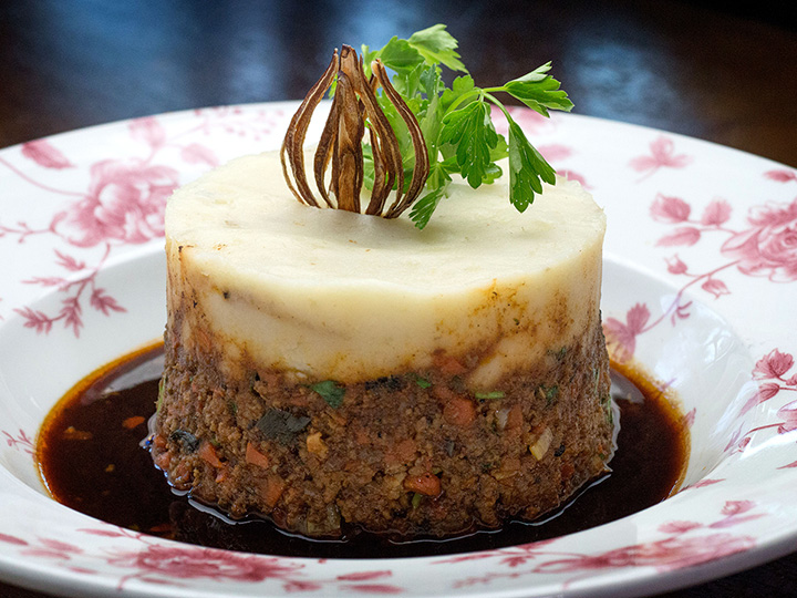 A plated serving of Shepherd's Pie from Raglan Road Irish Pub