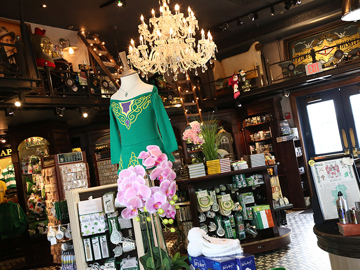 The interior of the Shop for Ireland boutique at Raglan Road featuring souvenirs and gifts