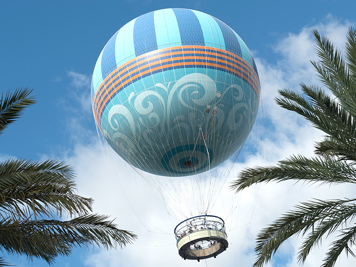 The world's largest tethered helium balloon rises skyward with Guests aboard