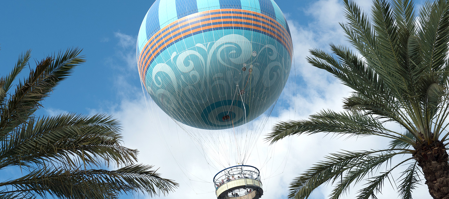 Aerophile the world leader in balloon flight disney springs the worlds largest tethered helium balloon rises skyward with guests aboard gumiabroncs Choice Image