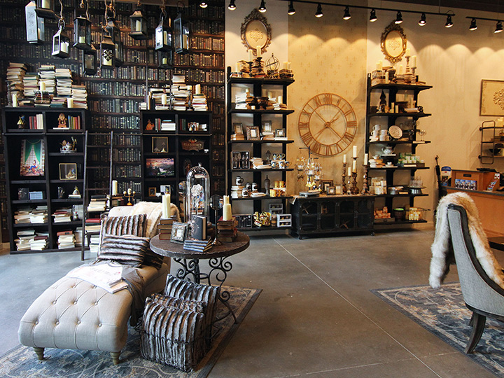 The interior of D Living, a home décor boutique at Disney Springs