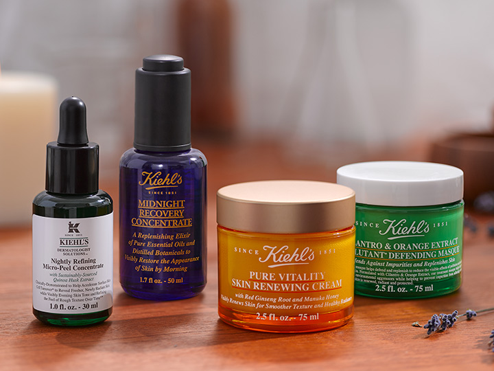 Four skin care products from Kiehl's, a boutique at Disney Springs