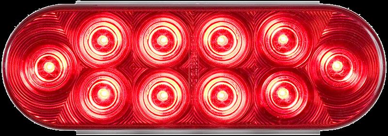 LED STT 6 OVAL 16D RED