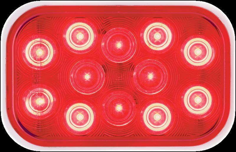 LED STT 6.25 RECT RED 12D SEL D REQ GRMT TRP PLUG