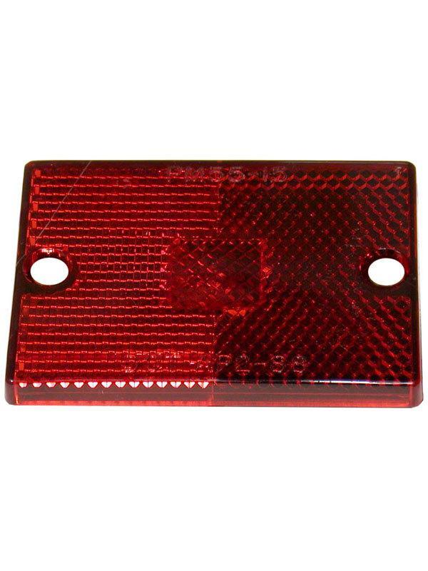 Peterson Replacement Red Rectangular Lens with Reflector