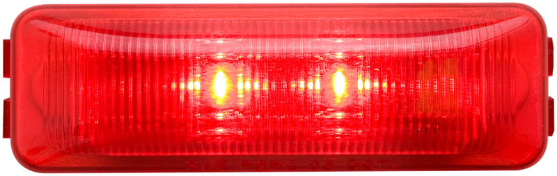 LED C/M THIN LINE RED 3.94 2D RECT LIGHT ONLY FLEET COUNT