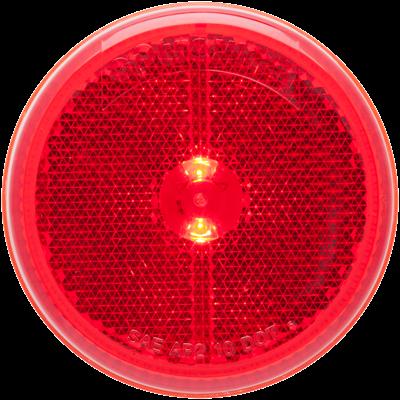 2-1/2 Inch LED Red marker/clearance light grommet mount
