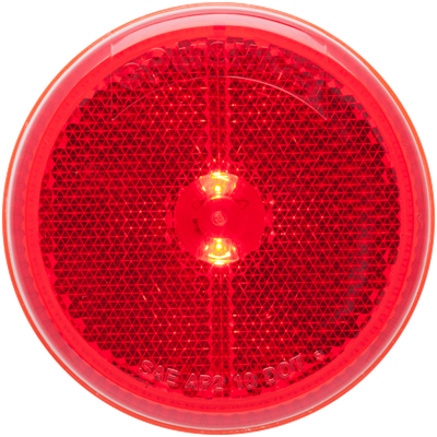 2-1/2 Inch LED Red marker/clearance light grommet mount