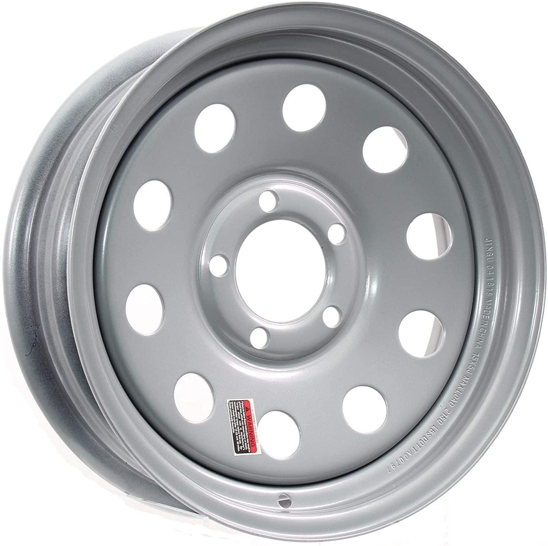"""Rim - 15"""" Silver Steel 5 Lug with 4.5"""" Bolt Pattern"""
