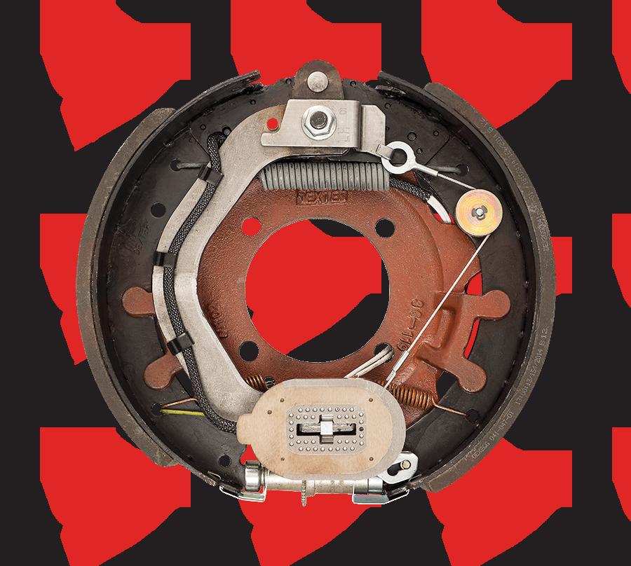 12-1/4 X 3-3/8 Dexter Electric Brake 4 Bolt 8K Left Hand