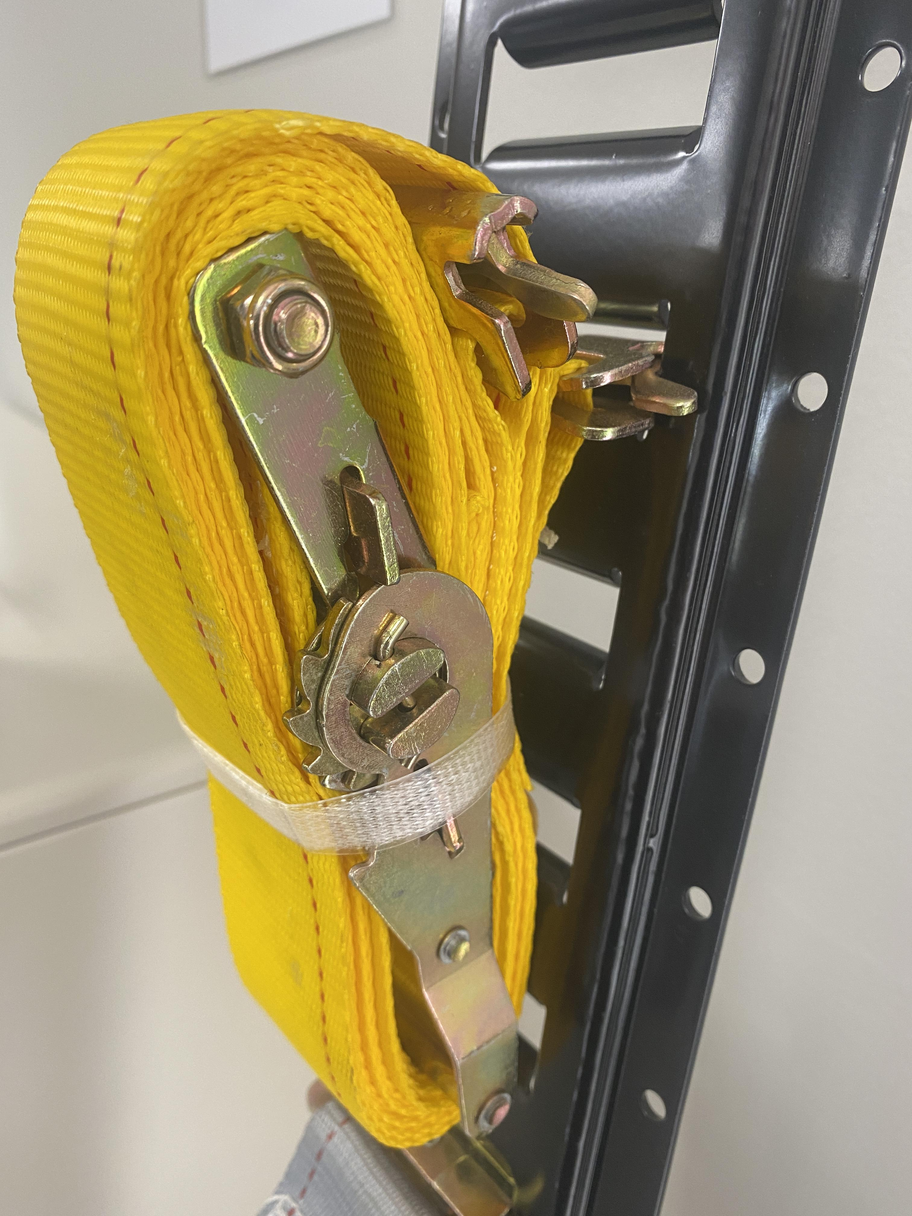 """Cargo Mall 2"""" x 12' Series E/A Ratchet Strap with Spring E Track Fittings"""
