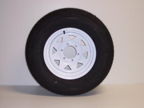 ST225/75R15 6 Lug White Rim