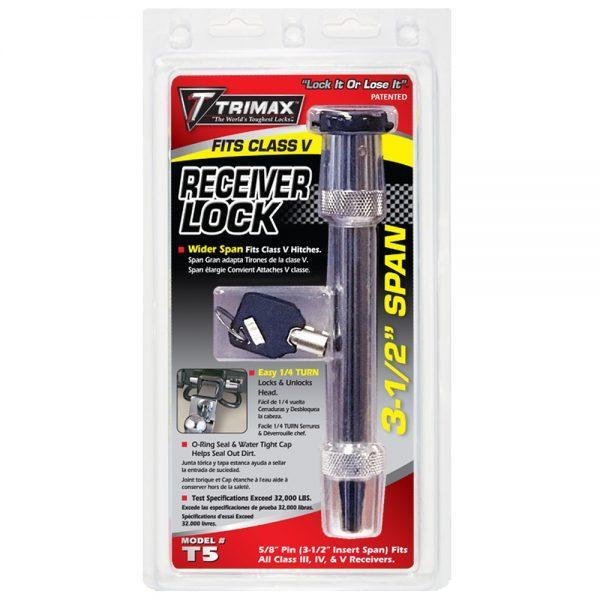 TRIMAX T5  5/8″ x 3-1/2″ Span - Key Receiver Lock (Wider Span)