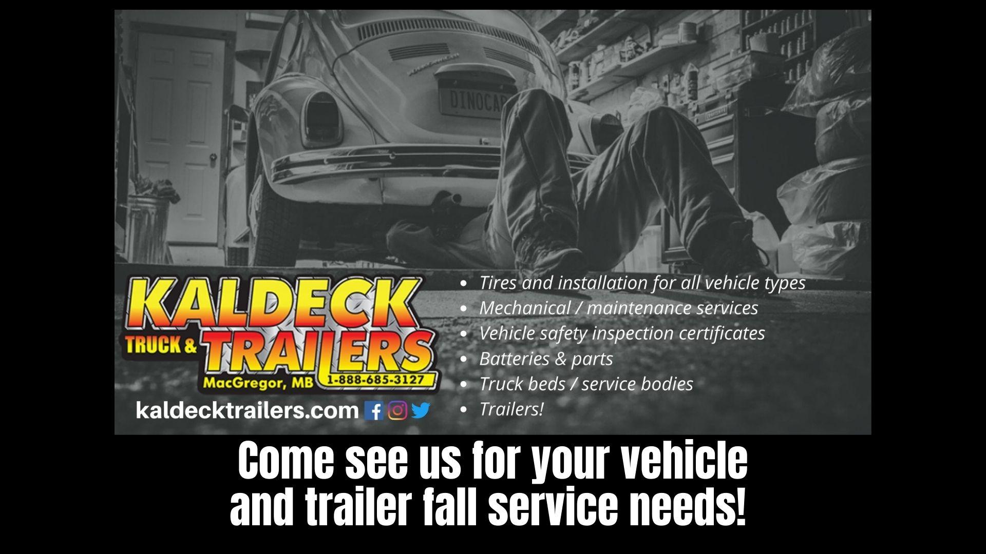 Trailer and automotive fall maintenance and service!