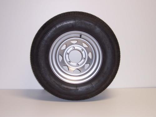 6 Lug Silver Rim ST225/75R15