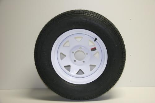 5 Lug White Rim ST205/75R15