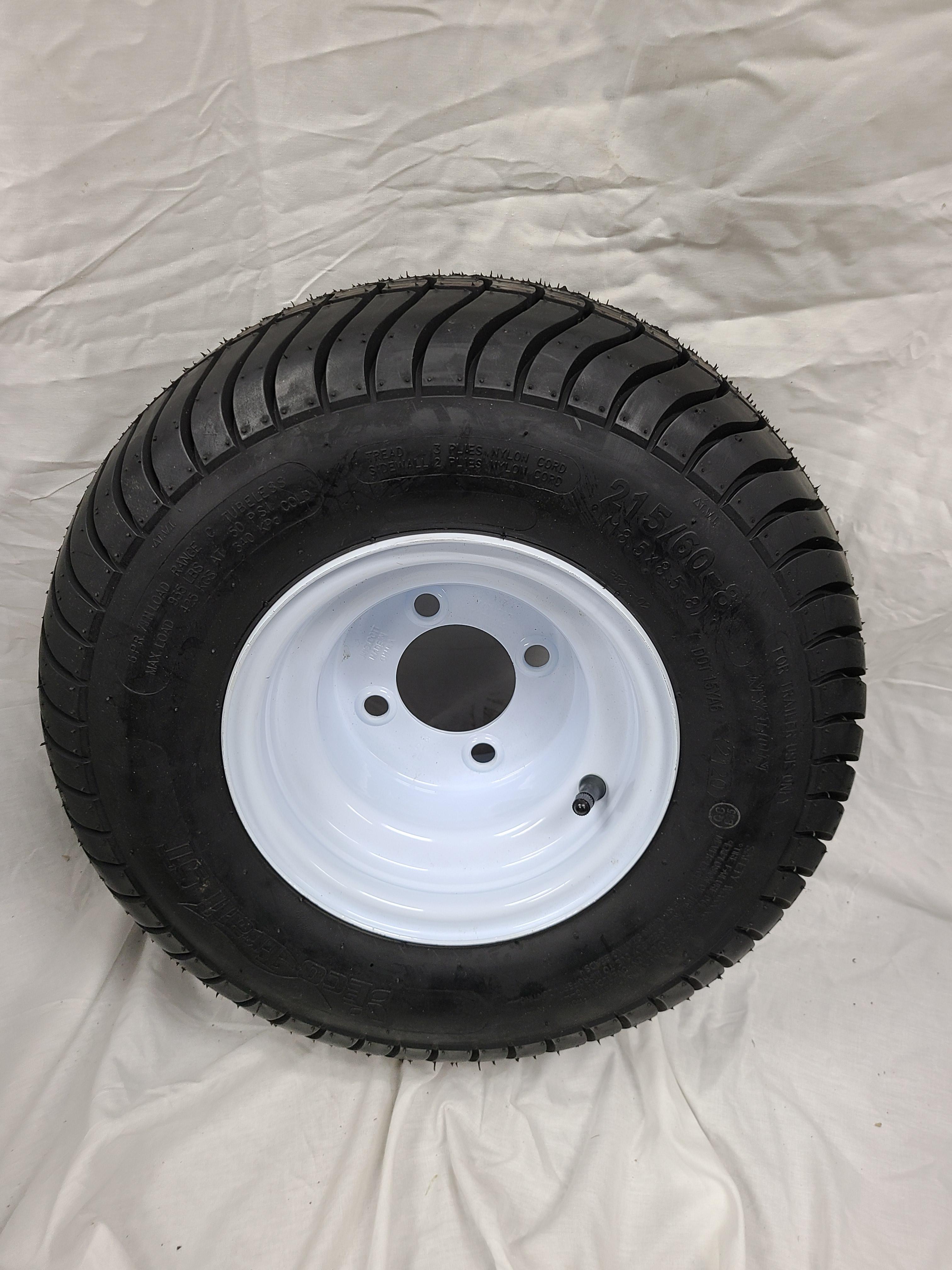 18.5X8.5X8 Trailer Tire 4 Lug Wheel