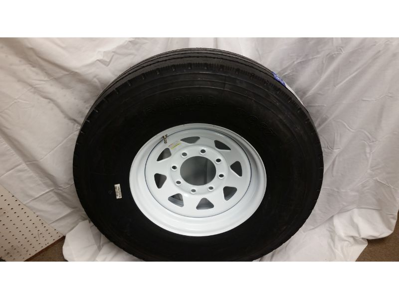 ST235/85/R16 Trailer Wheel/Sailun Radial Tire, 8 Lug White Spoke