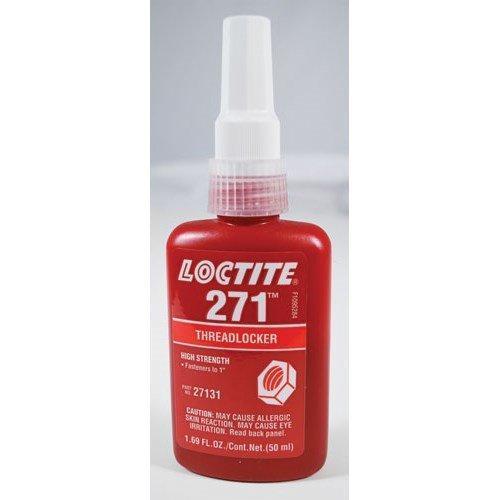"Loctite 271 NSF 61 50 ml Bottle High Strength Red Bottle Threadlocker for Fasteners up to 1"""