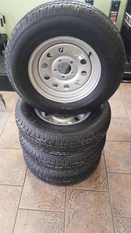 205/75R15 Radial Trailer Tire & Gray Rim
