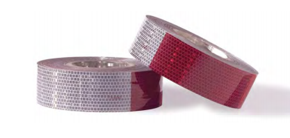 """REFLECTIVE TAPE CONSPICUITY TAPE 6"""" RED & WHITE TULSA OK @ HITCH IT TRAILERS"""