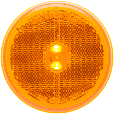 2-1/2 Inch LED Yellow marker/clearance light grommet mount
